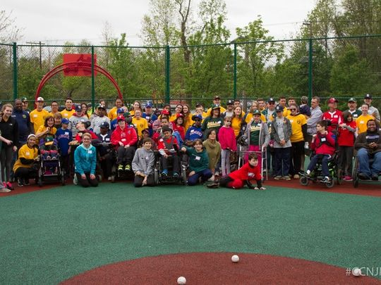 Group photo of the Camden County NJ Miracle League, a program that lets people with disabilities play baseball    (Photo: Joseph Nasto/Camden County NJ Miracle League)