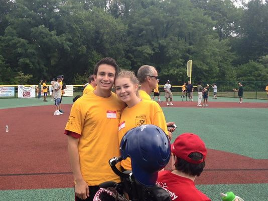 Cherry Hill East students Joe Levin & Holly Seybold created the Cherry Hill East Buddies Club in 2015(Photo: Arthur Aston/Camden County NJ Miracle League)