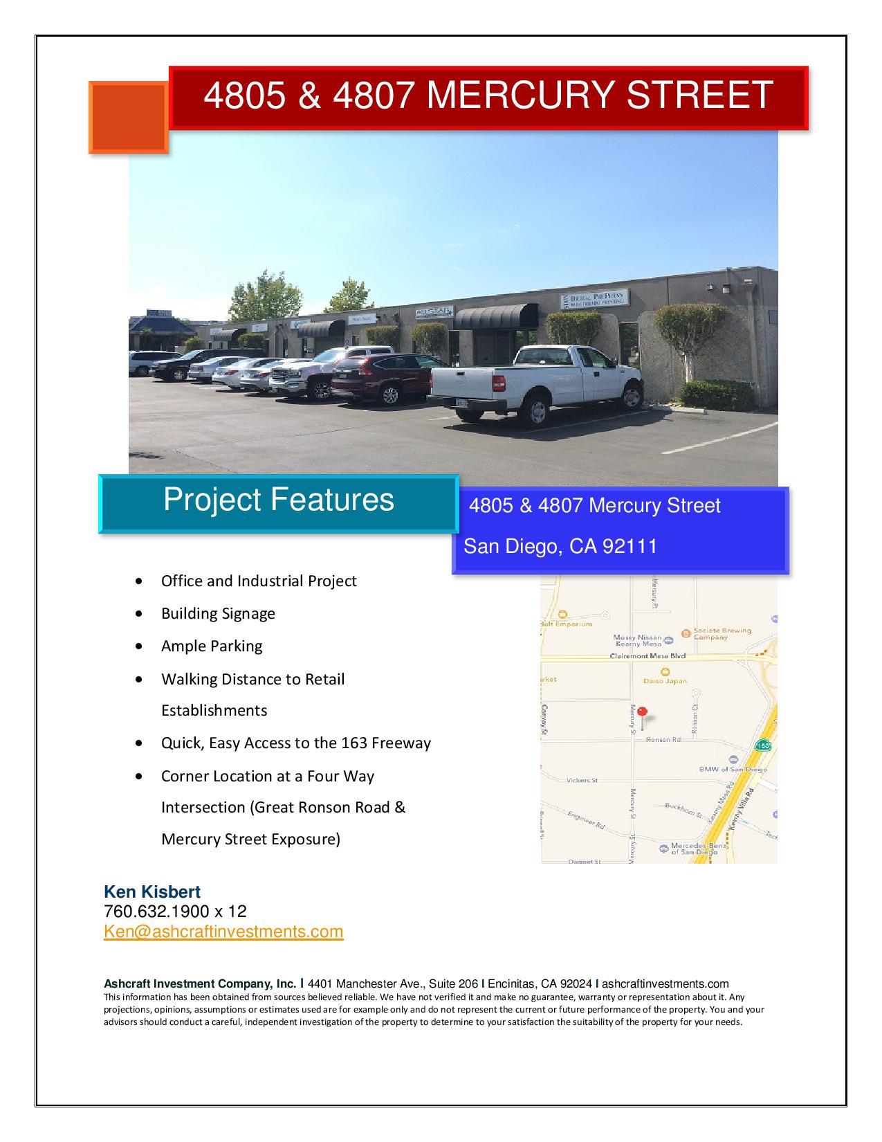 MER marketing flyer — Ashcraft Investment Company, Inc