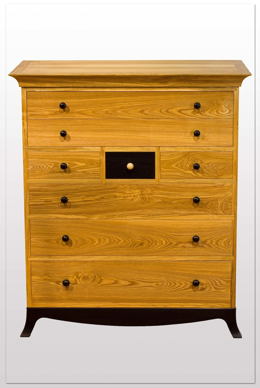"""Butlers Chest""   Olive Ash,Ebonised Ash,Cedar of Lebanon."