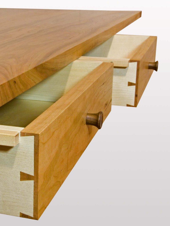Under mounted drawer detail.