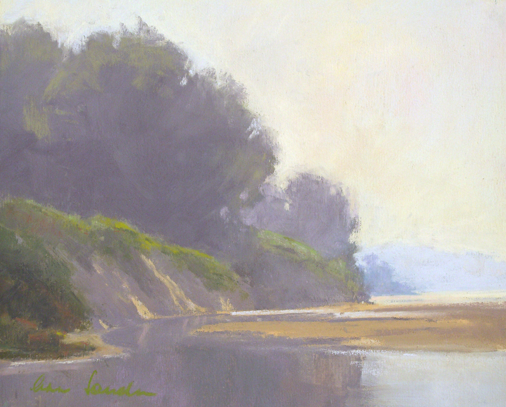 Hazy Beach, pastel, 8x10   SOLD
