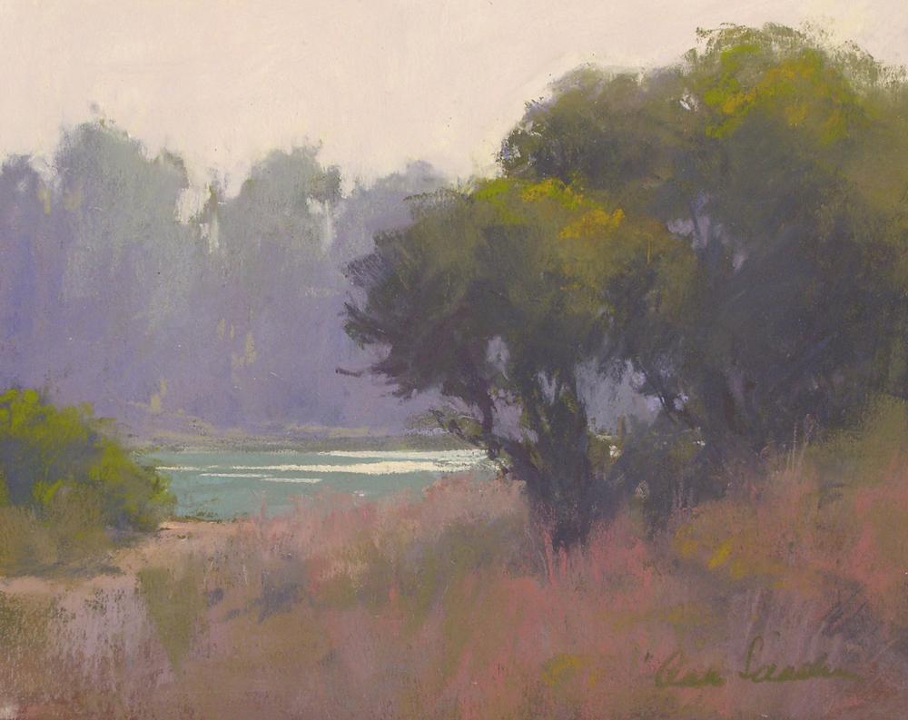 Lagoon Haze, pastel, 8x10