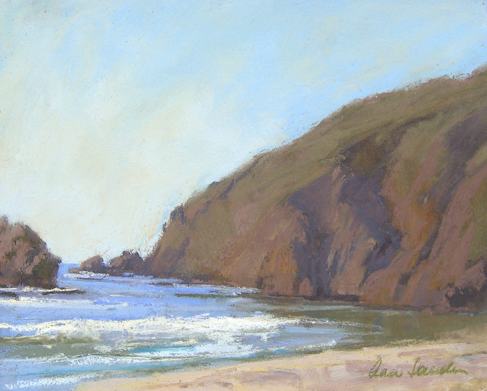 Pfeiffer Beach, pastel, 8x10