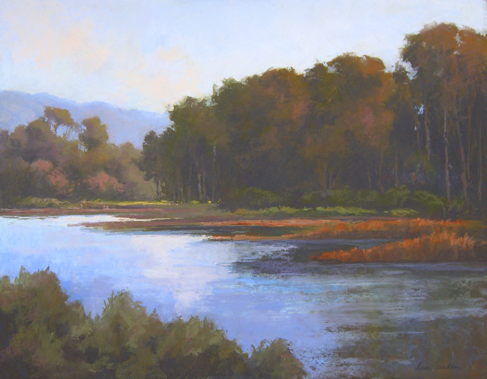 Lagoon Light, pastel, 24x30