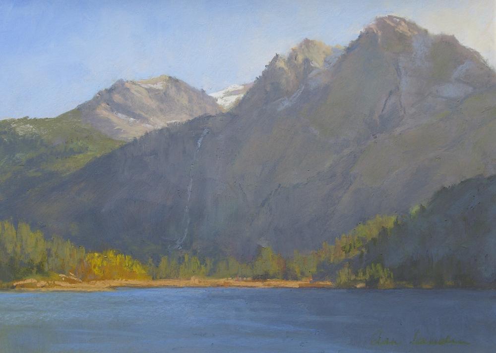 Silver Lake, pastel, 12x16    SOLD