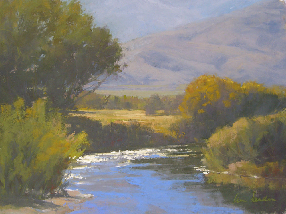 Owens Valley, pastel, 12x16