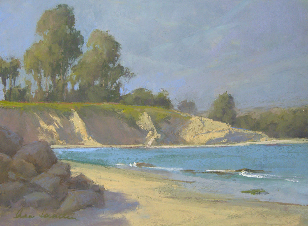 California Coastline, pastel, 12x16    SOLD