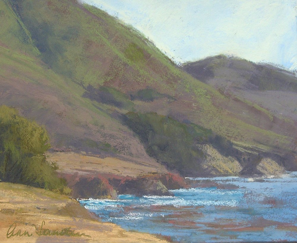 Rocky Point Cove, pastel, 8x10