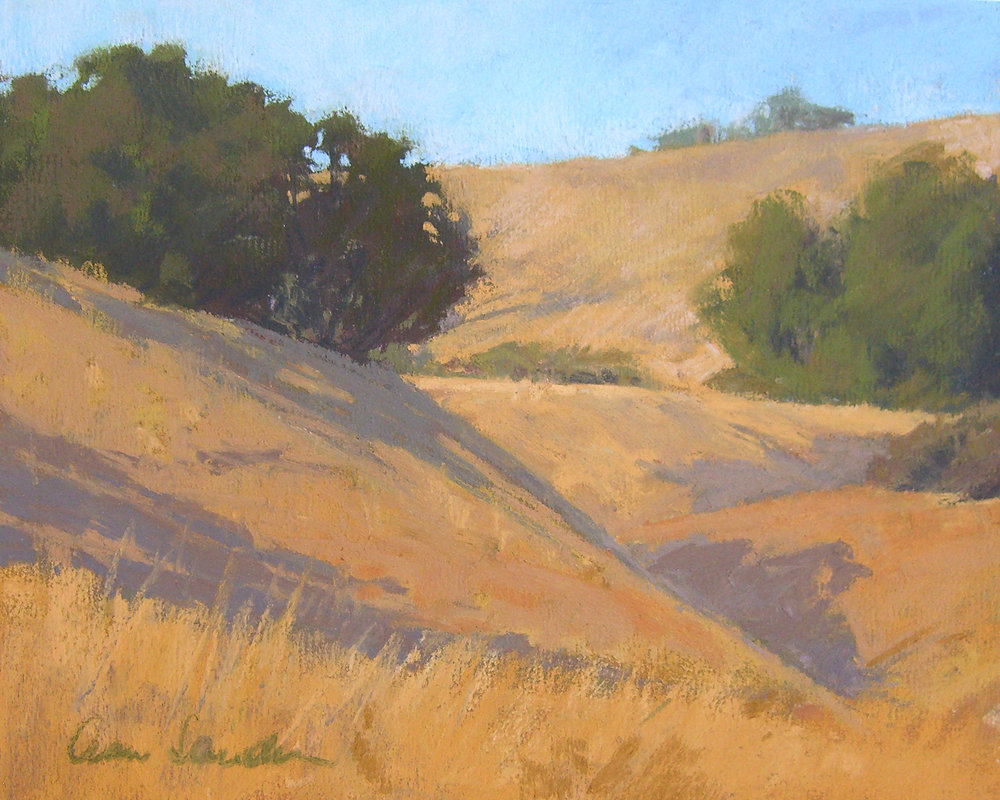 Golden Hills, pastel, 8x10 SOLD