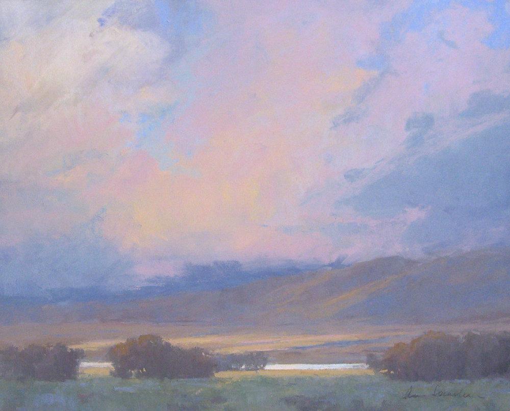 Owens Valley Clouds, pastel, 16x20