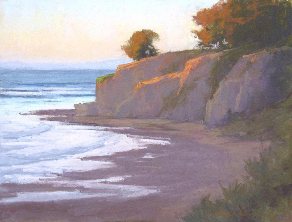 Leadbetter Sunrise, pastel, 12x16