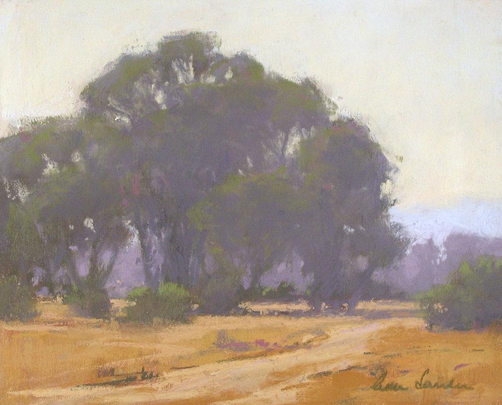 Evening Path, pastel, 8x10
