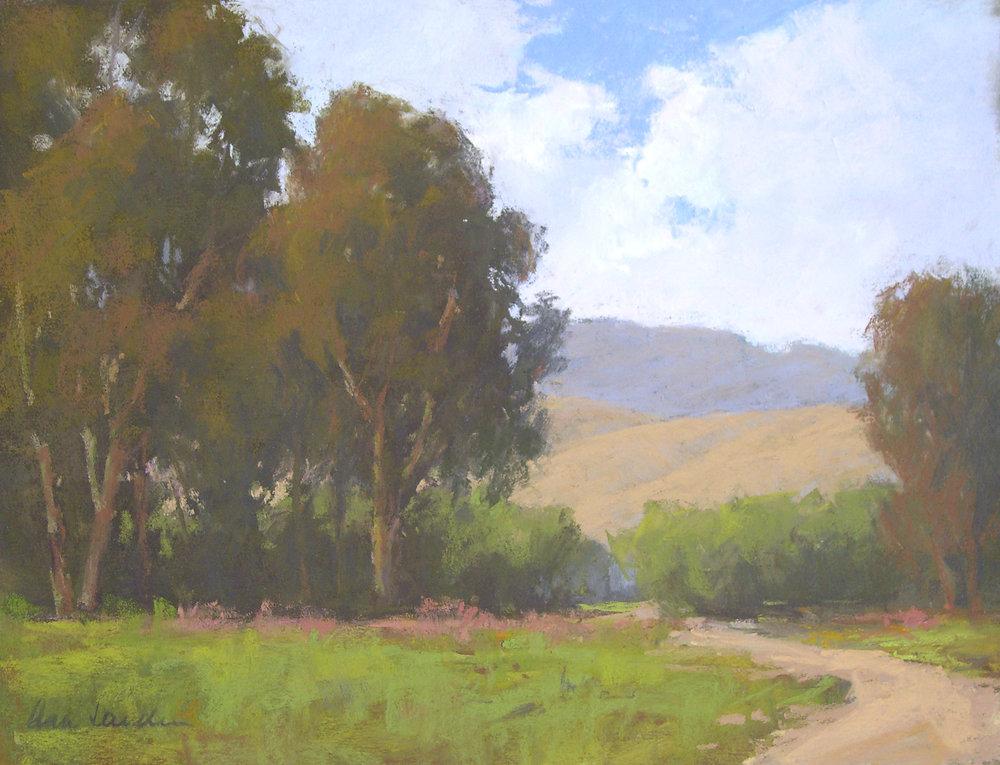 Valley Clouds, pastel, 12x16