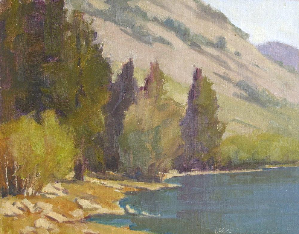 Lundy Lake, oil, 8x10