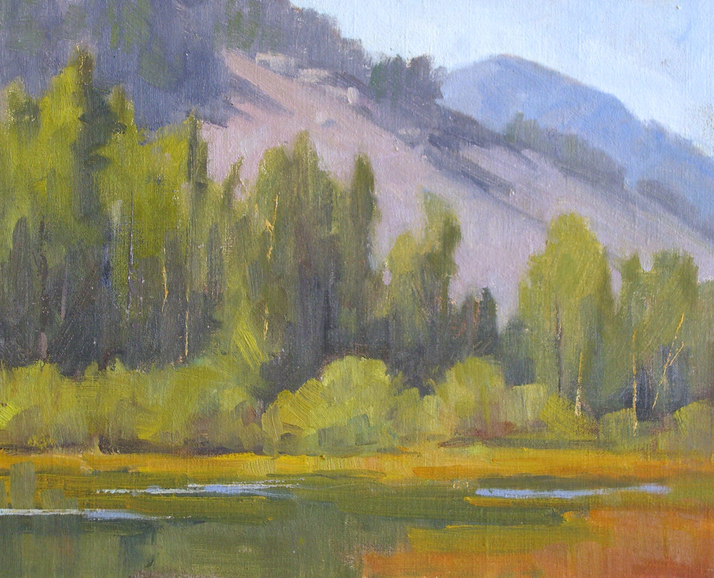 Lundy Beaver Pond, oil, 8x10