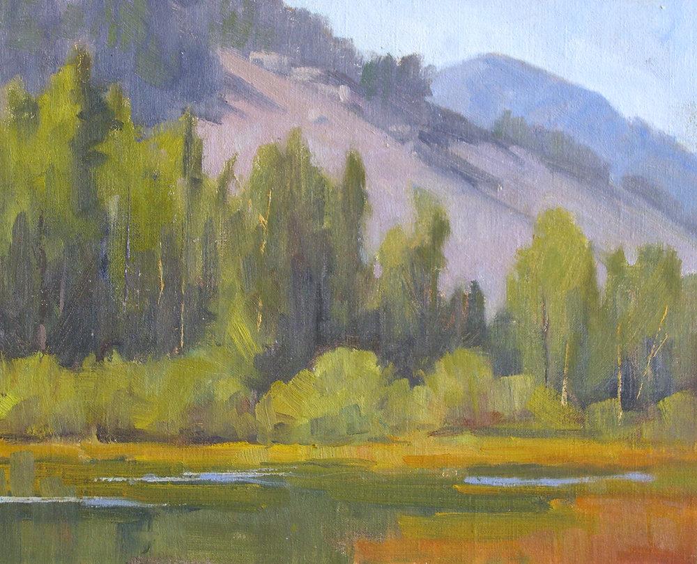 Lundy Beaver Pond, oil, 8x10