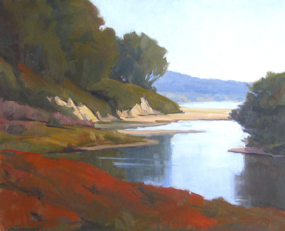 Goleta Beach Morning, oil, 16x20