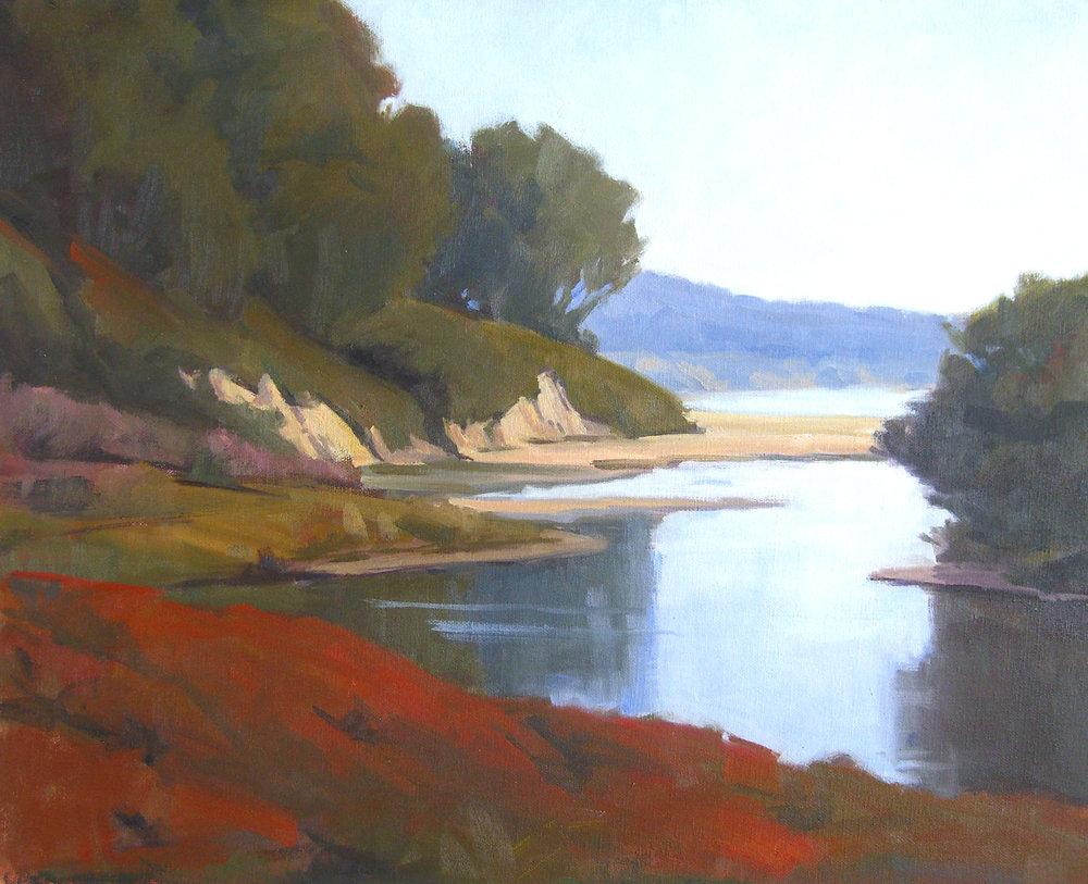 Goleta Beach Morning, oil, 16x20
