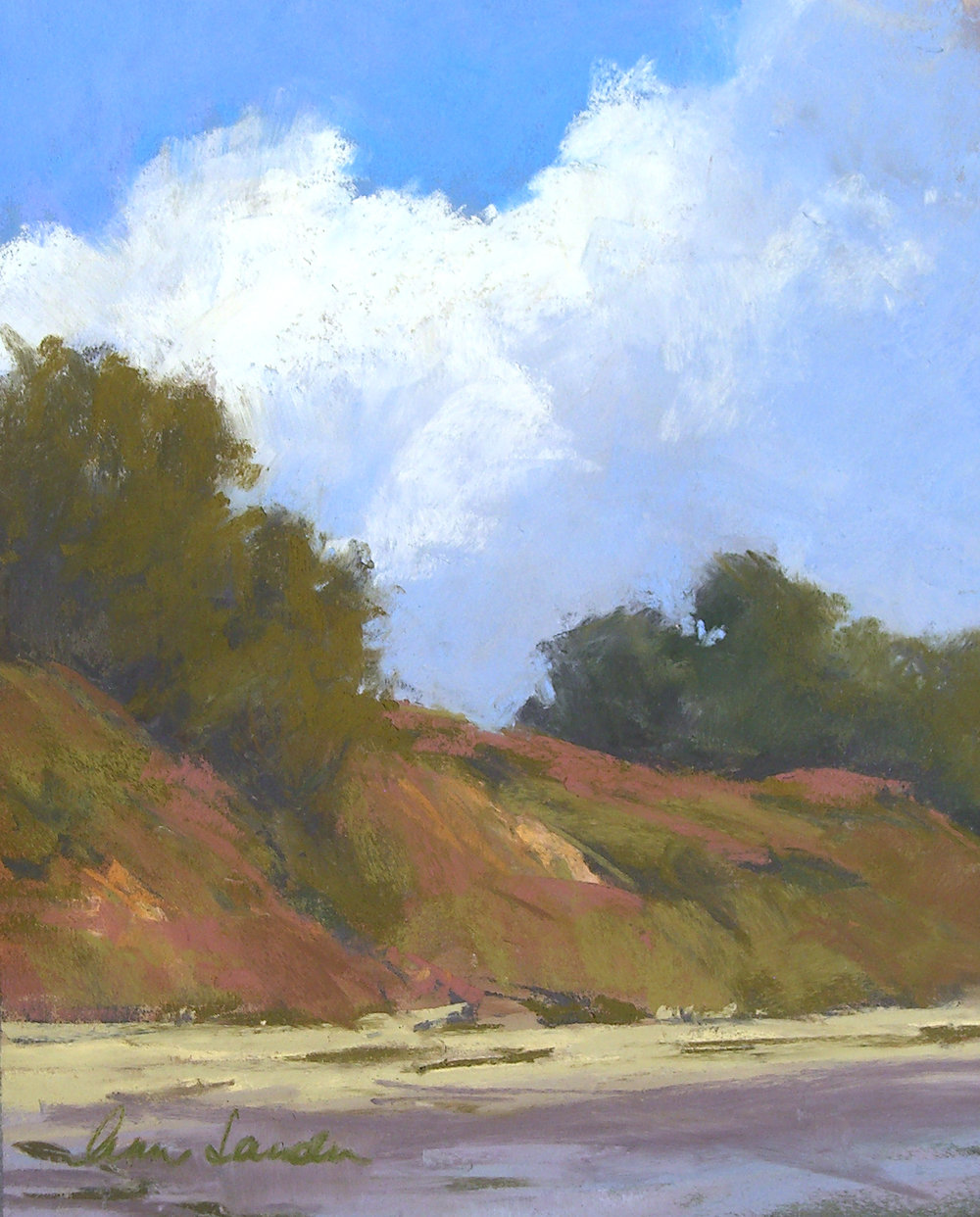 Bluff Clouds, pastel, 10x8