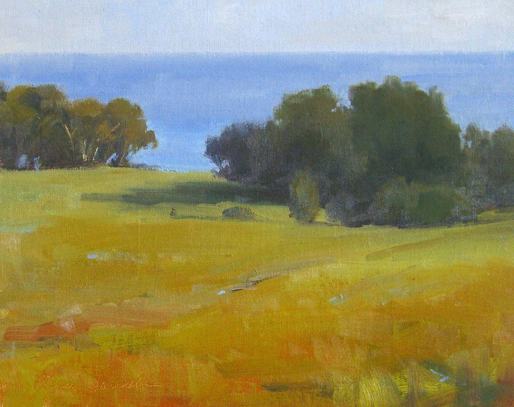 Coastal Spring, oil, 8x10