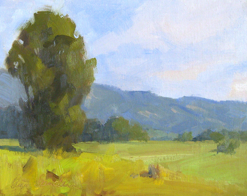 Spring Greens, oil, 8x10