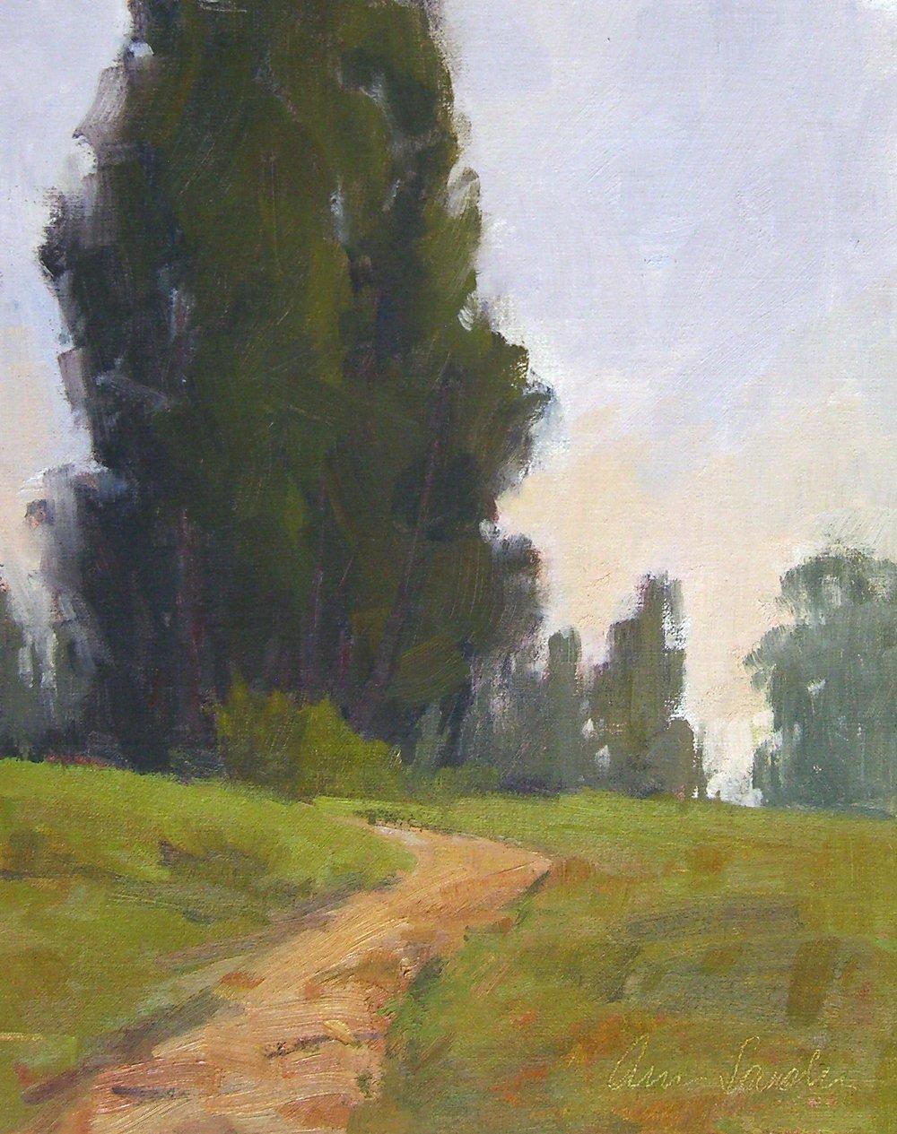 Spring Haze, oil, 10x8