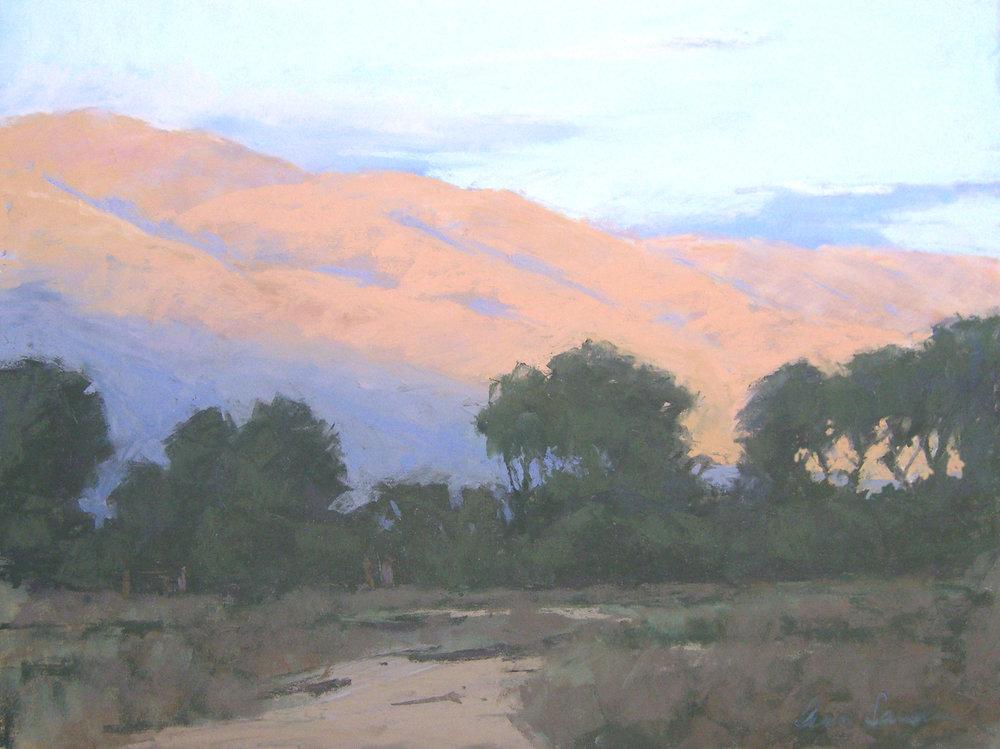 Inyos Sunset, pastel, 12x16
