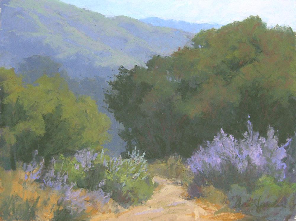 Botanic Garden Path, pastel, 12x16 SOLD