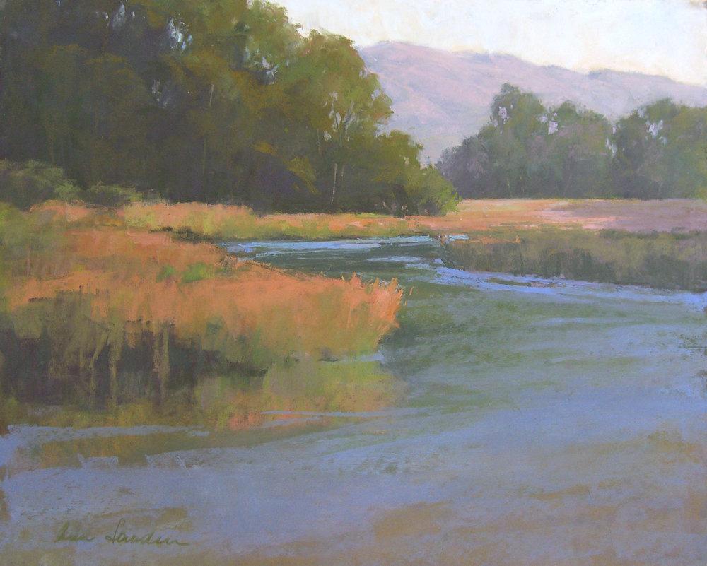 Tecolote Creek, pastel, 16x20