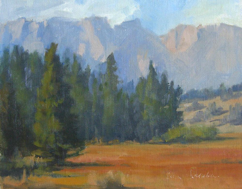 Horse Meadow, oil, 8x10