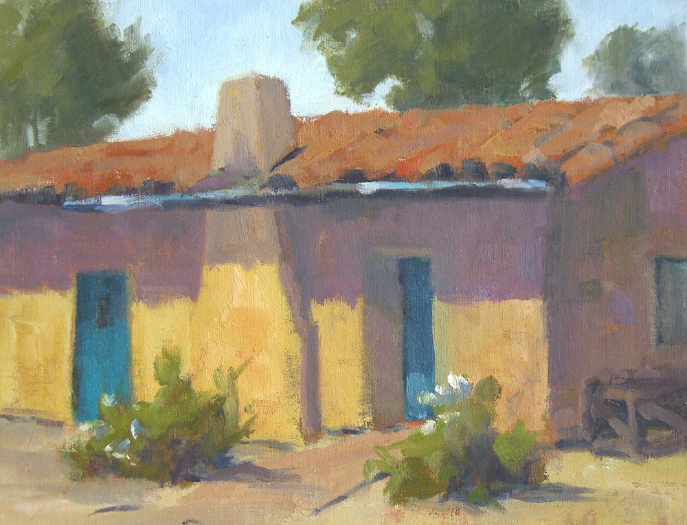 Presidio, oil, 8x10 SOLD