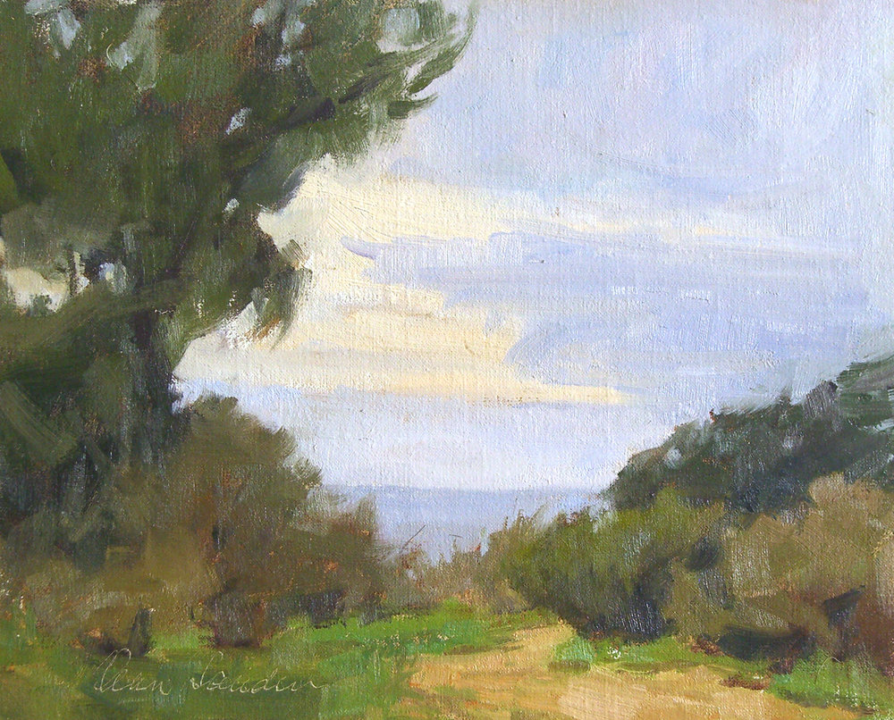 Douglas Preserve, oil, 8x10