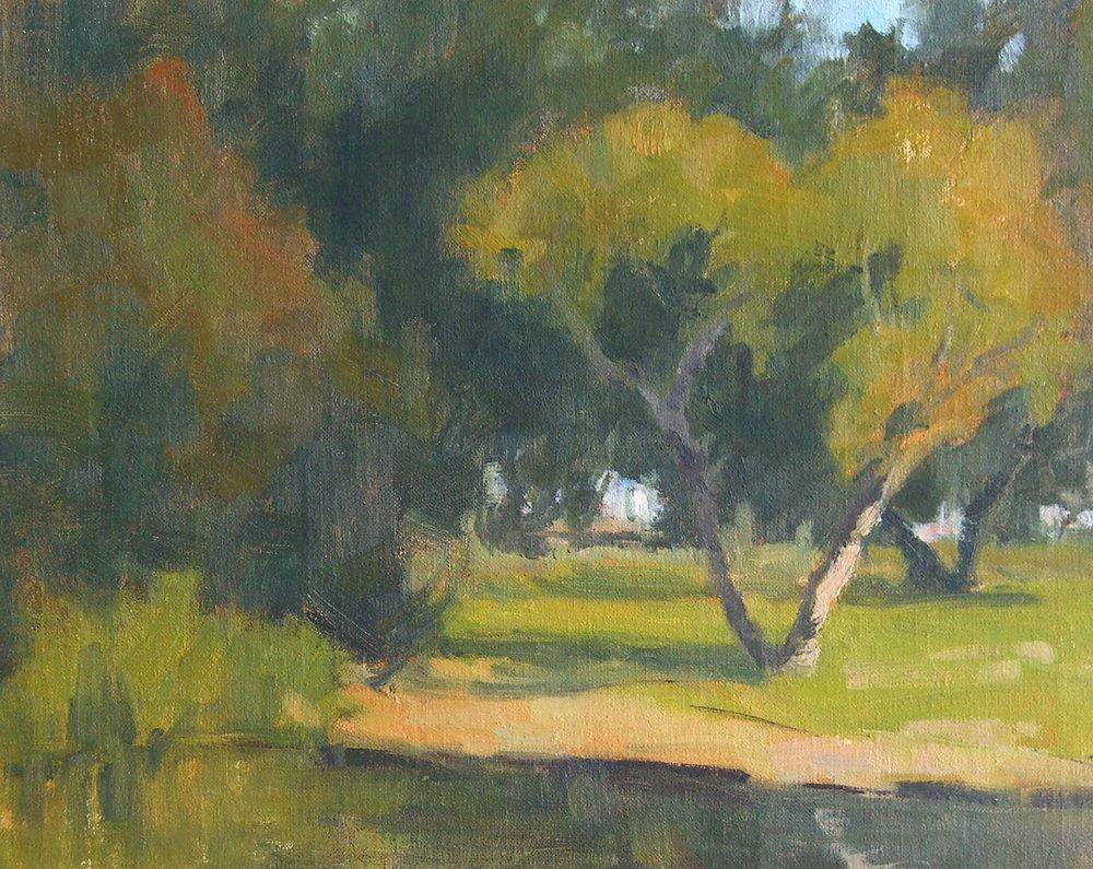 Alice Keck Park, oil, 8x10