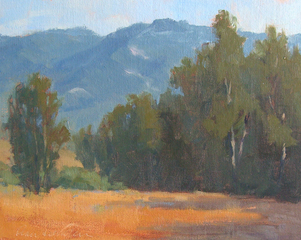 Lake Los Carneros, oil, 8x10