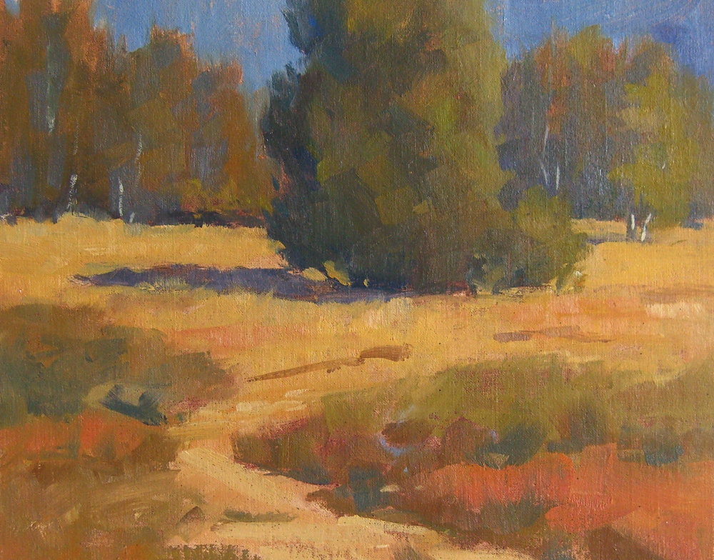Lake Los Carneros Colors, oil, 8x10