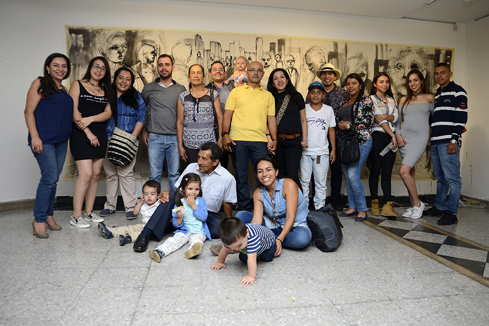 Family supporting art and artists in Colombia.