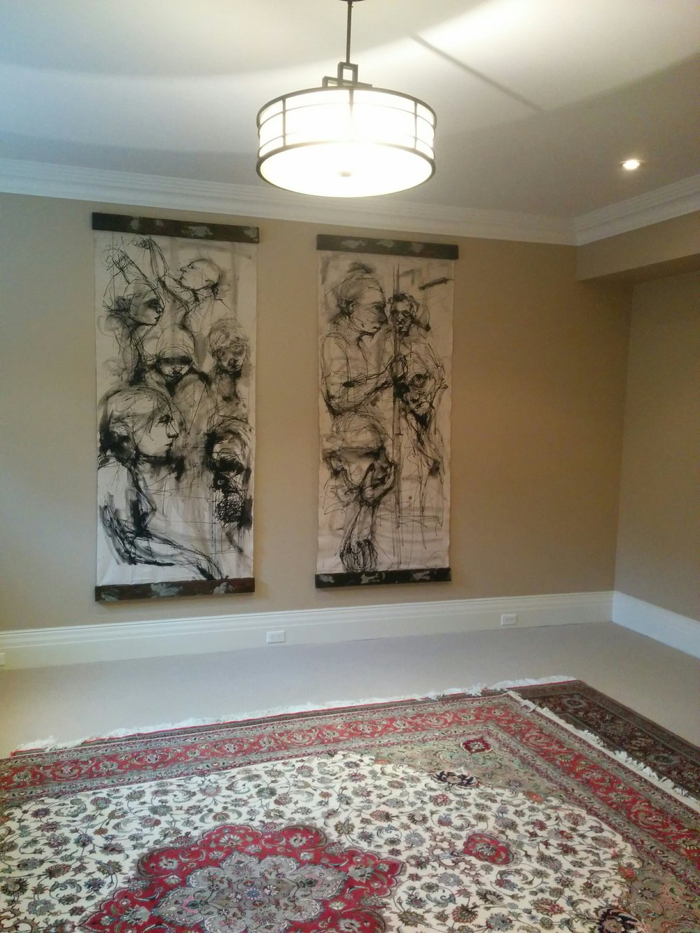Contemporary art decorating the walls of a private client in Toronto.