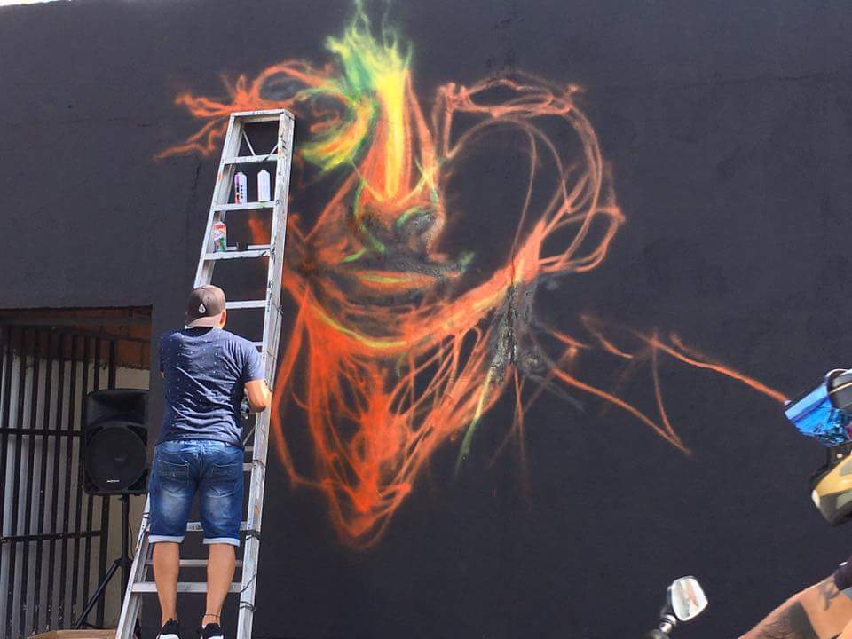 Work in progress, mural and street art in Colombia by Carlos Delgado