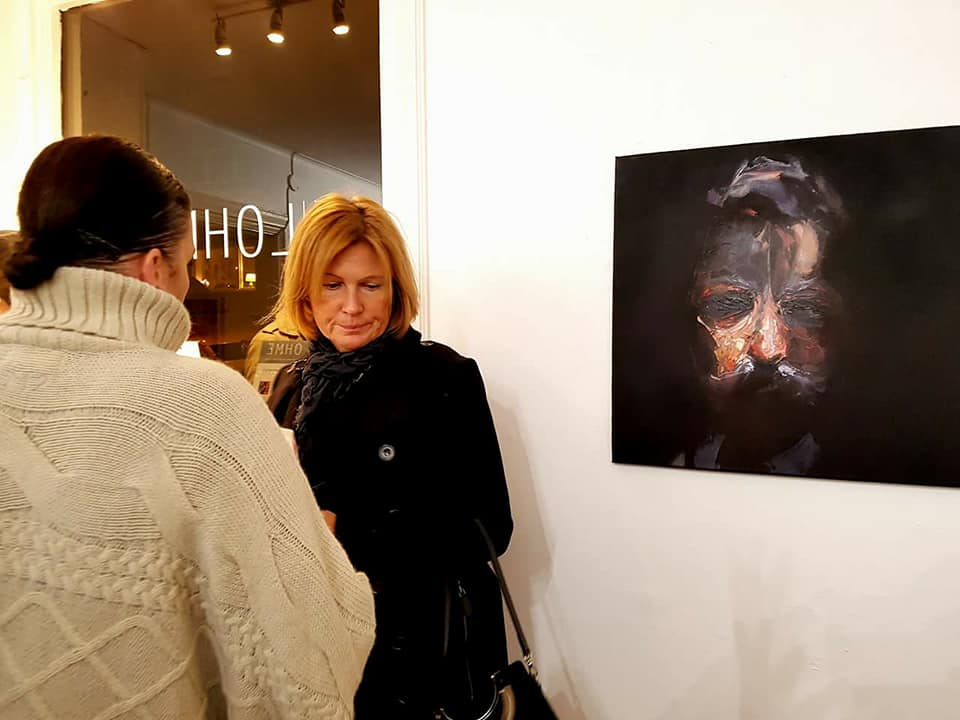 """The Gentelman"" on display in Galleri Lohme in Malmo, Sweden."