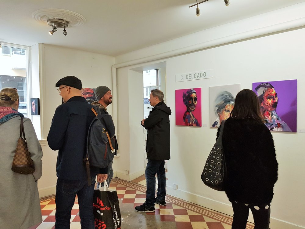 Solo show in Scandanavia of abstract portraits.