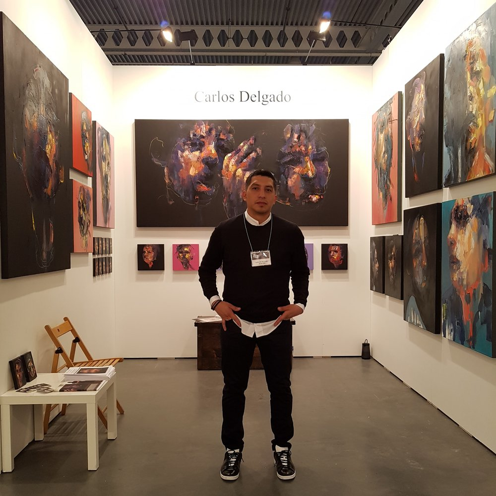Visual artist Carlos Delgado at Contemporary Art Fair Artist Project, Canada.