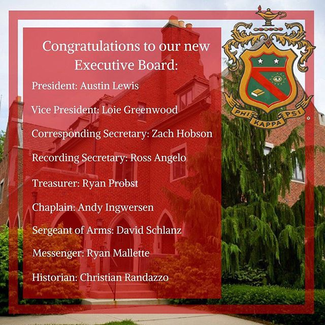 Introducing our newly elected Executive Board led by our new President, @austinlewis23! We are excited for our newly elected Brothers to step up and continue leading our Chapter in the right direction!