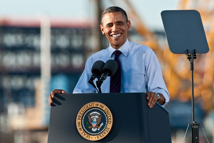 Barack Obama's environmental accomplishments include helping broker the Paris climate accord, pushing through the Clean Power Plan, and adding upwards of 500 million acres to America's conservation portfolio. Credit: Nick Knupffer, FlickrCC.