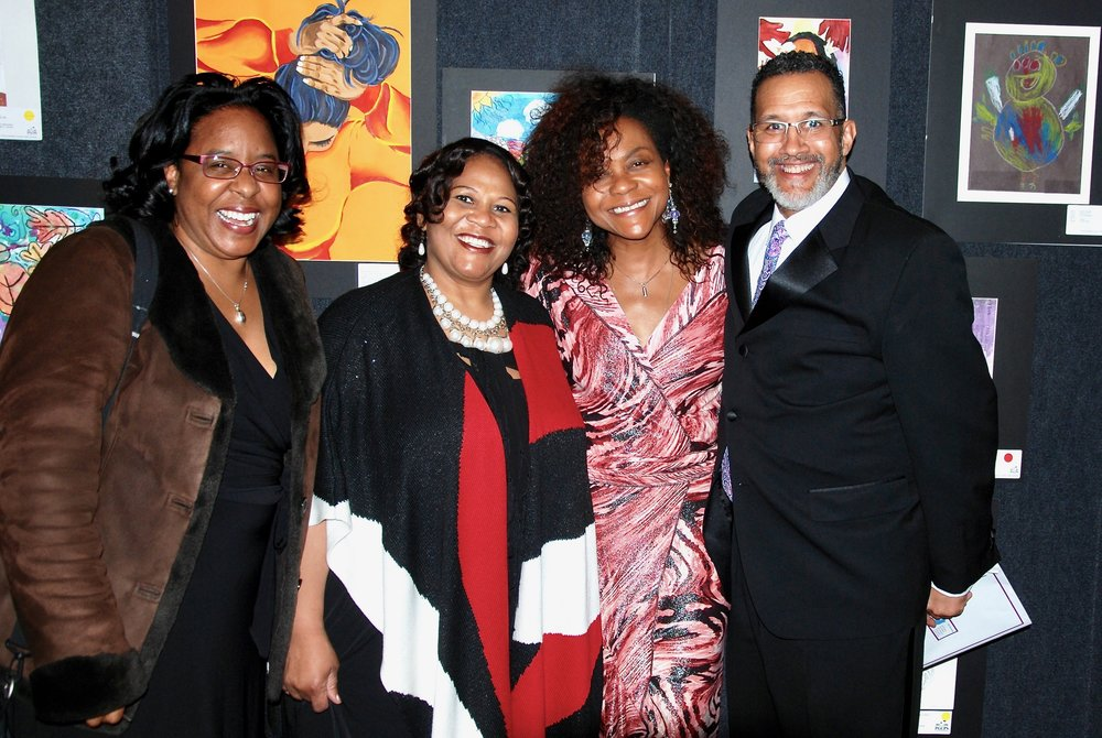 Elizabeth Crittenden, PGAHC Business Partnership Coordinator, Melony Griffith, Former Chair Prince George's House Delegation, Prince George's Arts & Humanities Executive Director Rhonda Dallas and Board of Education Chair Según Eubanks.