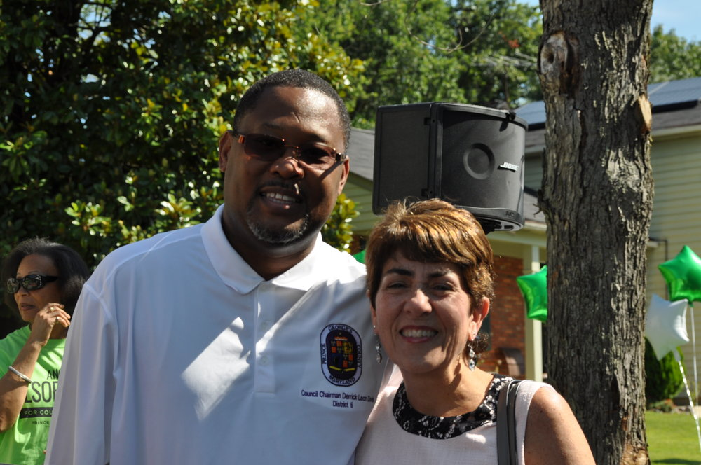 County Council members Derrick L. Davis and Mary Lehman. PHOTO: RADENN MEDIA GROUP