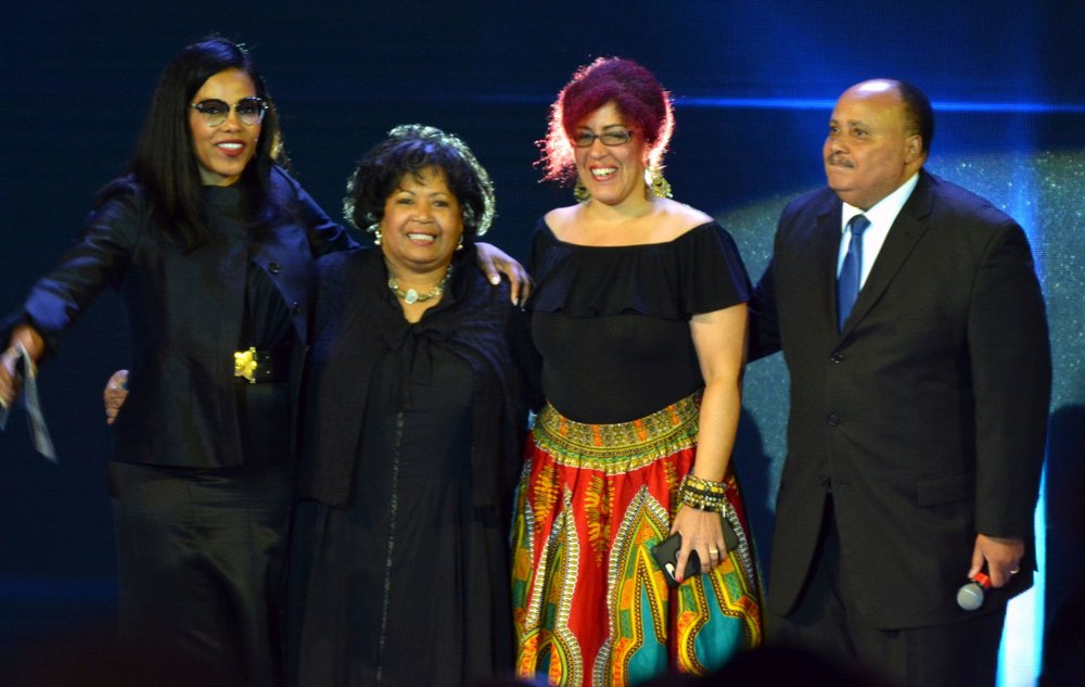 Ilyasah Shabazz, Reena Evers, Rain Pryor and Martin Luther King III. PHOTOS: BILL HART