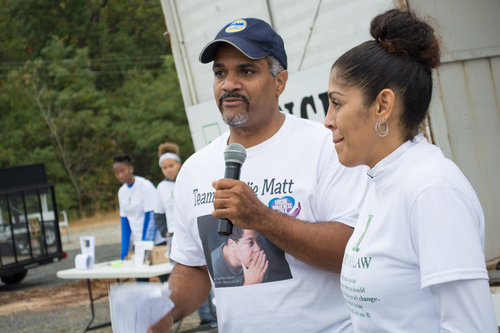 Director of the Prince George's Office of Community Relations Musa Eubanks and Founder of Lauryn's Law Linda Diaz. PHOTO: AMIR STOUDAMIRE