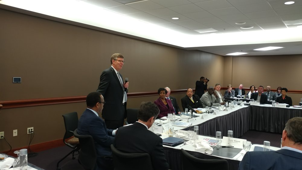 John O'Brien addresses the Greater Prince George's Business Roundtable March 14.