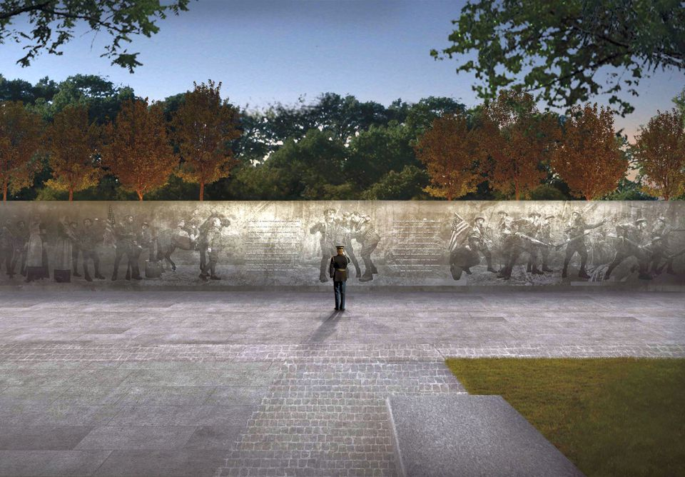 Architect rendering. © National WWI Memorial Project